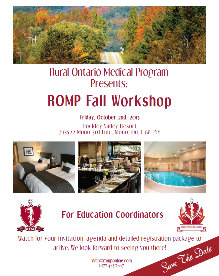 ROMP Fall Workshop 2015 - For Education Coordinators